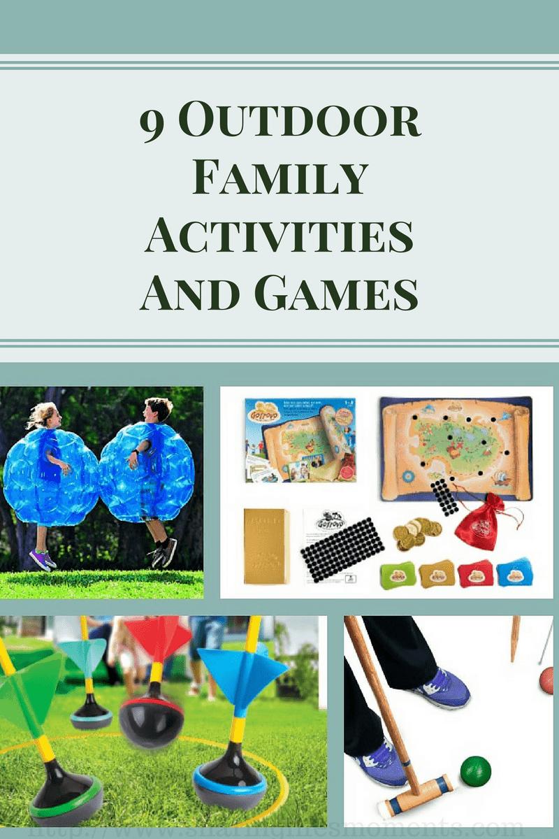 9 Outdoor Family Activities, outdoor family fun, outdoor kids games,