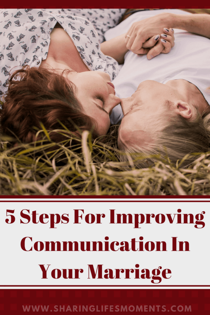 Communication in marriage is a vital part of keeping it strong. These five steps for improving communication in your marriage will help!