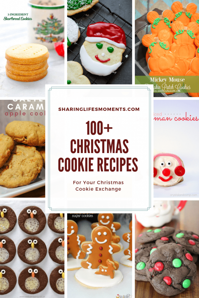 100+ Christmas Cookie Recipes for your Christmas Cookie Exchange brought to you by Sharinglifesmoments.com. Don't miss out these bloggers awesome recipes!