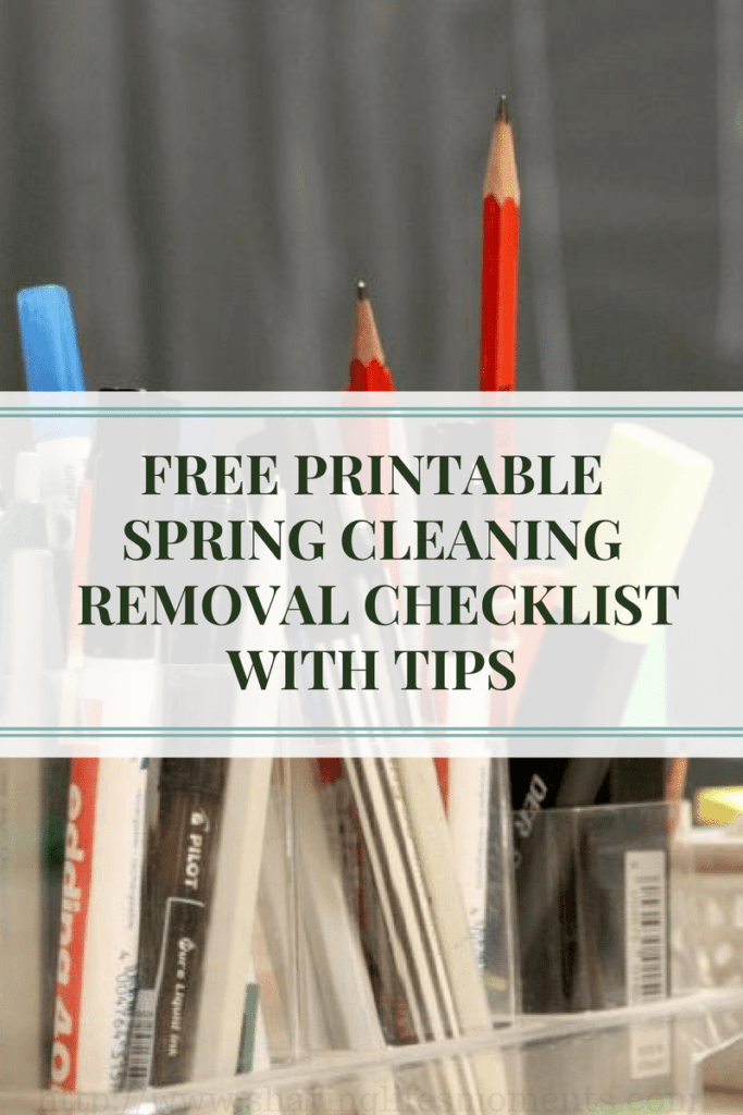 Now is the perfect time to get your home decluttered. Here is a FREE PRINTABLE SPRING CLEANING REMOVAL CHECKLIST WITH TIPS.