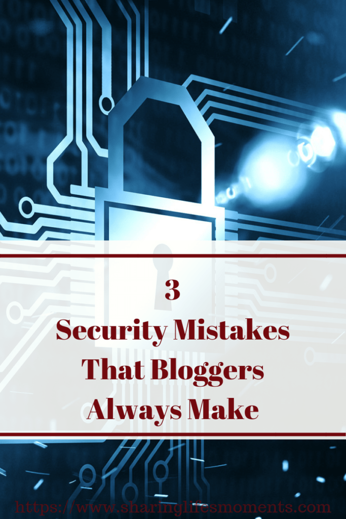 Make sure you're not guilty of these three security mistakes. If you are, you could be risking a lot. Learn how to keep your blog safe here.