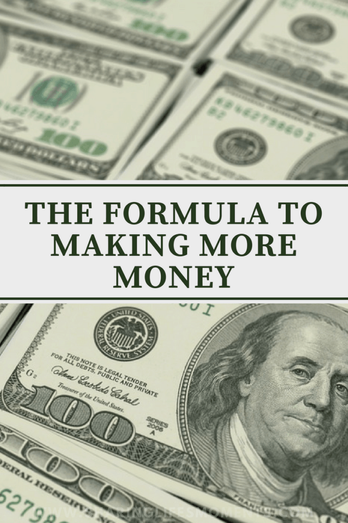 Making more money isn't as complicated as one may think. If you put into practice this formula for making money you'll be able to make it happen.