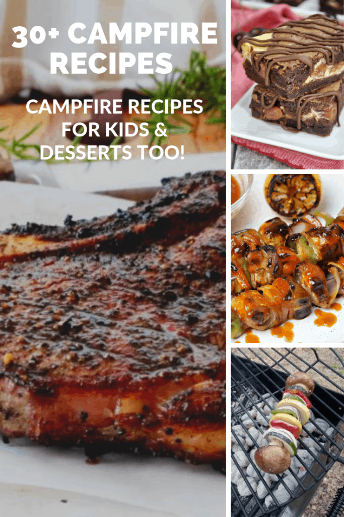 Camping is a fun family summer activity to do. Here are 30+ campfire recipes worth making. I've included campfire recipes for kids and campfire recipes desserts too.