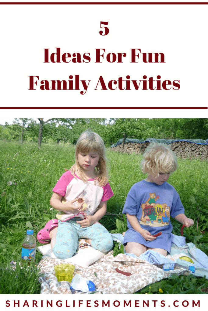 Spending time with the family is quite important. Here are five ideas for fun family activities. Which one are you using?
