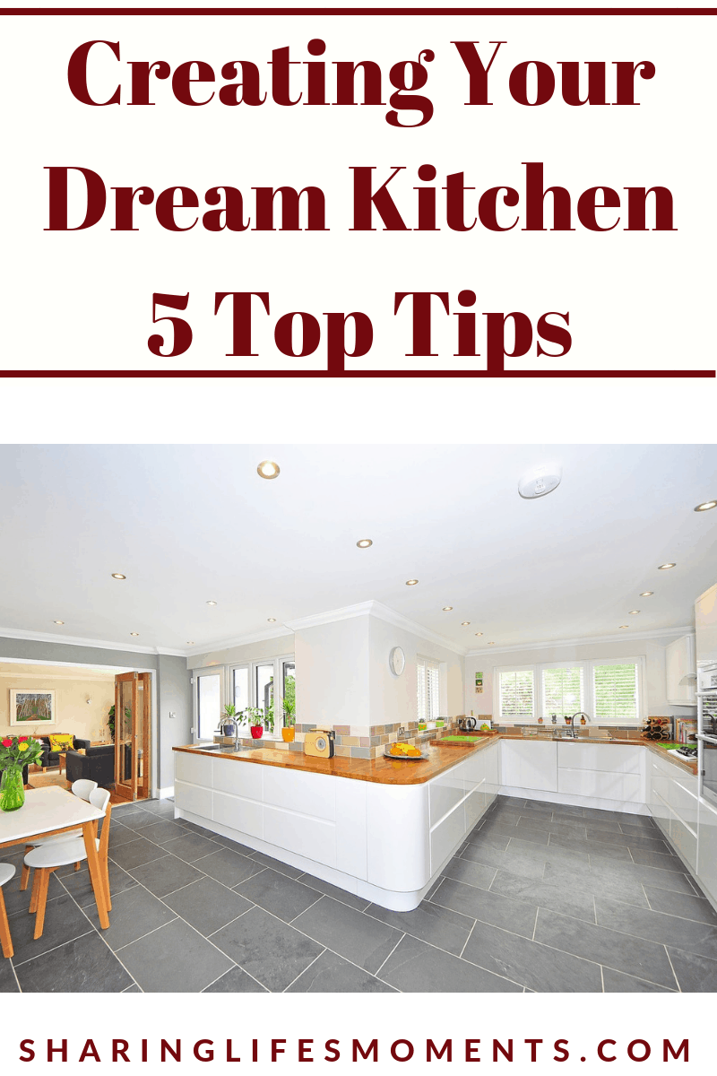 Having a well laid out kitchen can make cooking more enjoyable. Here you'll find 5 top tips on creating your dream kitchen.