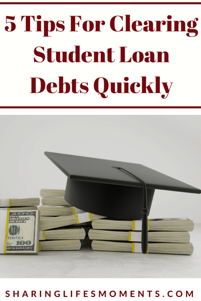 Student loan debt affects so many people in the US. Here are five tips for clearing student loan debts quickly.