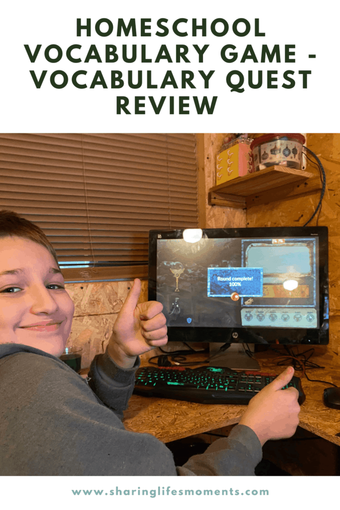 Get your kids excited to learn new vocabulary words by having them play Vocabulary Quest. This homeschool video game takes away some of the pain of learning new words. #homeschool #languagearts #videogame #sharinglifesmoments