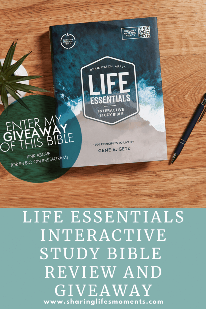 Change the way you spend time reading the Bible with the new Life Essentials Interactive Bible. Read this full review and enter to win one for yourself. #LifeEssentialsL3 #ad #giveaway #sharinglifesmoments