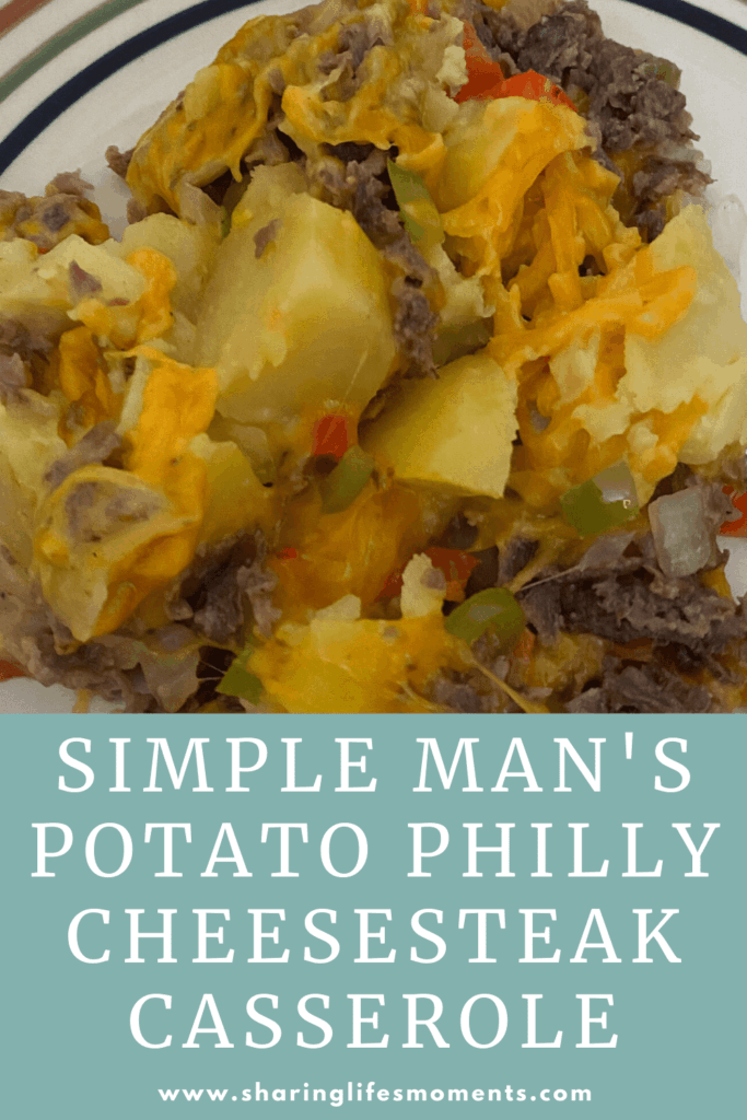 Create this Simple Man's Potato Philly Cheesesteak casserole for a meal the whole family will like.