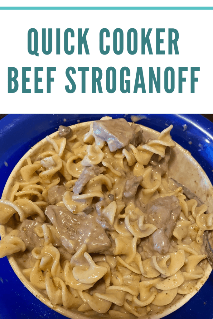 This Quick Cooker Beef Stroganoff will be a meal everyone will fight over. It's a wonderful comfort food meal that you can make in less than an hour. #recipes #sharinglifesmoments #quickeasymeals