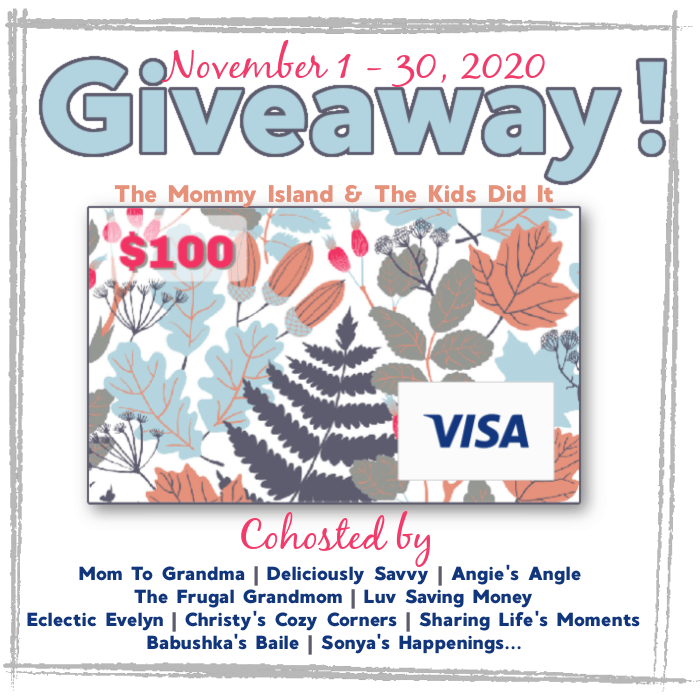 Enter to #win this $100 Visa Gift Card in this giveaway hosted by several different amazing bloggers. #giveaway #visagiveaway #sharinglifesmoments #bloggerhostedgiveaway