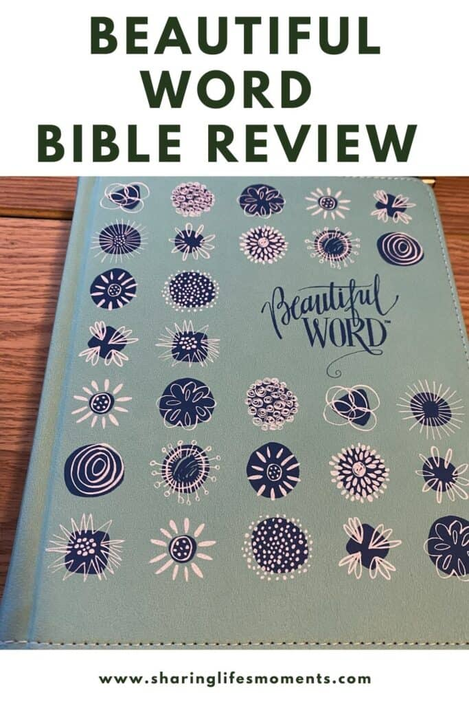 Every little girl deserves a Bible that reminds them how beautifully made they are and how loved they are by God. The Beautiful Word Bible Review is an investment in your girl's self-esteem and faith life. #Biblereview #Bible #sharinglifesmoments #livinginfaith #beautifulwordgiftset #FlyBy