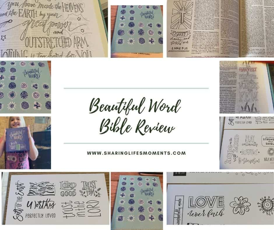 Every little girl deserves a Bible that reminds them how beautifully made they are and how loved they are by God. The Beautiful Word Bible is an investment in your girl's self-esteem and faith life. #Biblereview #Bible #sharinglifesmoments #livinginfaith
